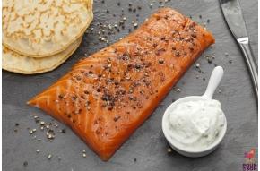 Fondant de saumon aux poivres