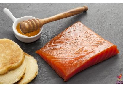 Fondant de saumon au miel